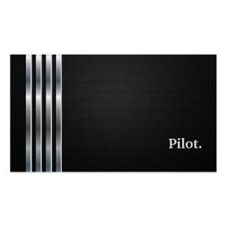 Pilot- professionellsvartsilver set av standard visitkort