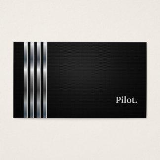Pilot- professionellsvartsilver visitkort