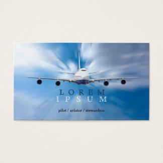 Pilot- transport för himmel för visitkort