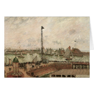 Pilots brygga, Le Havre av Camille Pissarro Hälsningskort