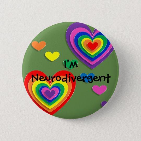 "Pin ""I'm Neurodivergent"" Standard Knapp Rund 5.7 Cm"