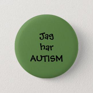 """Pin """"Jag har Autism"""" Standard Knapp Rund 5.7 Cm"""