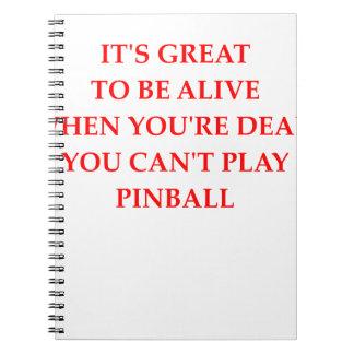 PINBALL ANTECKNINGSBOK MED SPIRAL