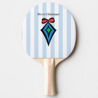 Pingen Pong för god juldiamantprydnaden paddlar Pingisracket