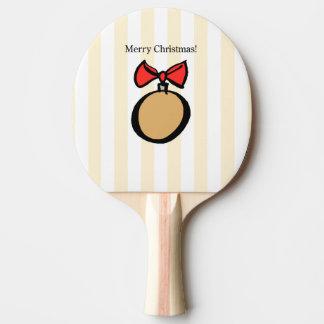 Pingen Pong för god julrundaprydnaden paddlar Pingisracket