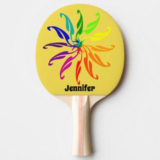 Pingen Pong paddlar - färg rullar löv och namn Pingisracket