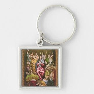 Pingstdagen, c.1604-14 fyrkantig silverfärgad nyckelring
