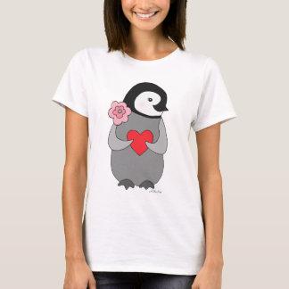 Pingvin för baby för gullig pingvinT-tröja grafisk T-shirts