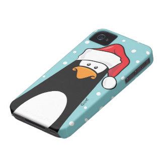 Pingvin i en Santa hatt iPhone 4 Hud