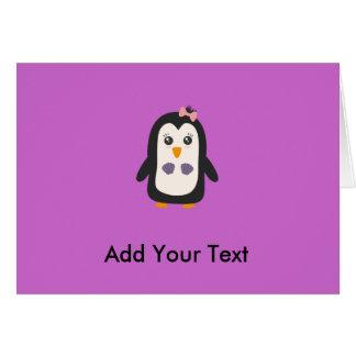 Pingvin med bikinin hälsningskort