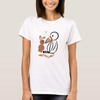 Pingvin och kanin tshirts