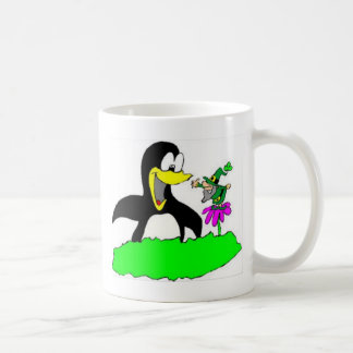 Pingvin och troll kaffemugg