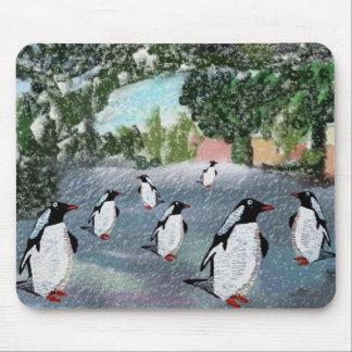 Pingvin Winterwonderland Mousepad Mus Mattor
