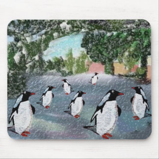 Pingvin Winterwonderland Mousepad Musmatta