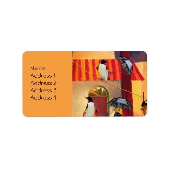 PingvinCafe Adressetikett