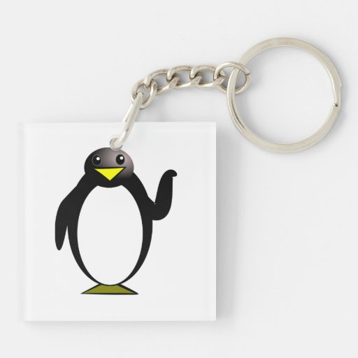 Pingvinclipart Nyckelring