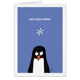 Pingvinet har ett Joyous Holiday* kort! Hälsningskort