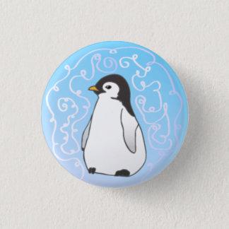 Pingvinet knäppas mini knapp rund 3.2 cm