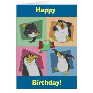 Pingvinet kvadrerar födelsedagkortet