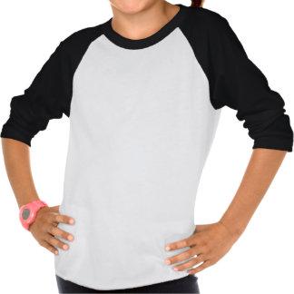 Pingvinflicka T-tröja för Raglan T-shirt