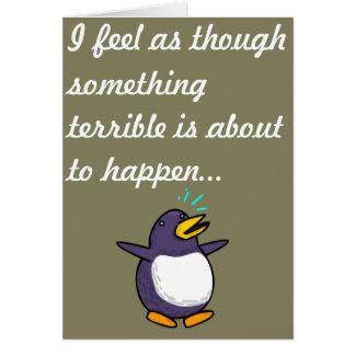 Pingvinfödelsedag Hälsningskort