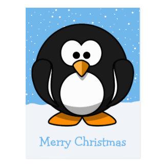 Pingvingod jul vykort