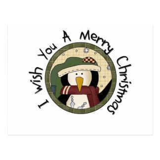 Pingvingod julT-tröja och gåvor Vykort