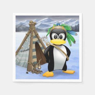 Pingvinindiantecknad Servett