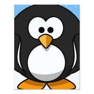Pingvinjulparty 10,8 X 14 Cm Inbjudningskort