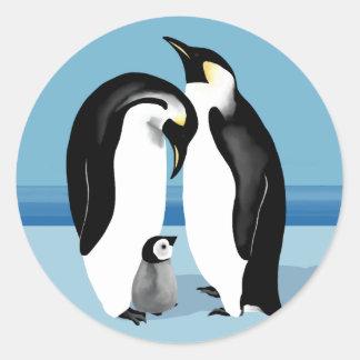 Pingvinklistermärkear Runt Klistermärke