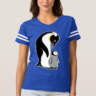Pingvinkvinna T-tröja för fotboll Tröjor