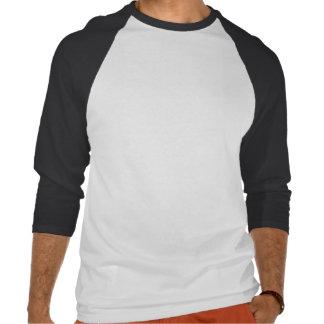 Pingvinmanar skjorta, vit och svart för Raglan Tshirts
