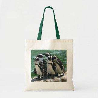 Pingvintotot hänger lös budget tygkasse