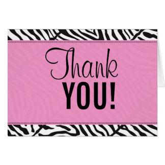 pinkzebraen tackar, DIG! Hälsningskort