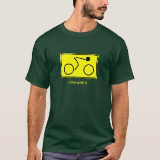 Pinne med den: cyklist (gult) tee