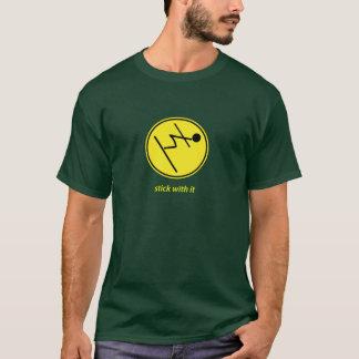 pinne med den: skier (gult) t shirt