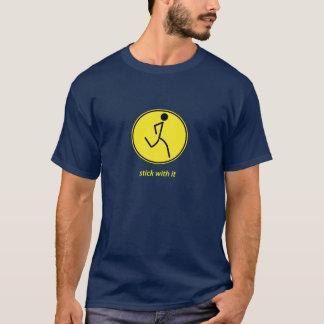 Pinne med den: springer (gult) tee shirt