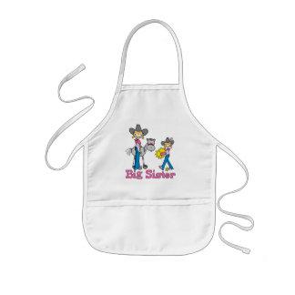 PinneCowgirlsstorasyster Barnförkläde