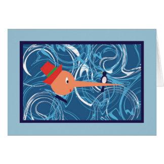 Pinocchio noterar kortet OBS kort