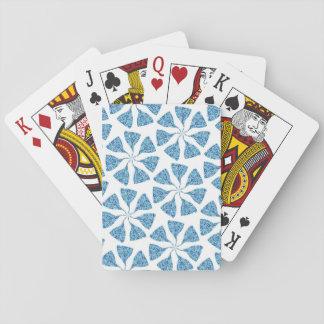 Pinwheel för mönster för blåttvinterSnowflake Spel Kort