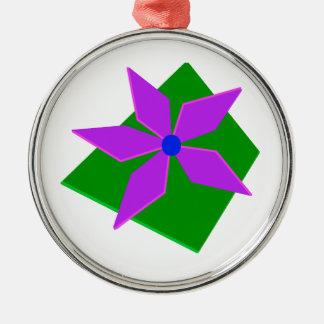 PINWHEEL, grönt och lilor Julgransprydnad Metall
