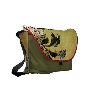 Pioner & fjärilsHokusai konst Messenger Bag