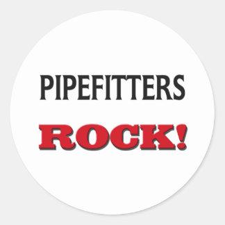 Pipefitters sten runt klistermärke