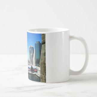 Pir för NYC Manhattan Kaffemugg