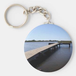 Pir salt Marsh, Nantucket ö Rund Nyckelring