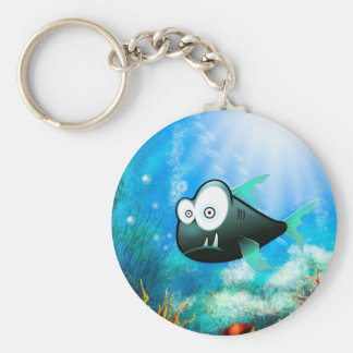 piranha rund nyckelring