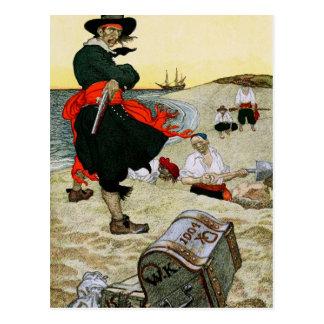 Pirat begravde skatt vykort