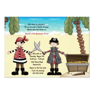 Pirat bootyfödelsedagsfest inbjudan
