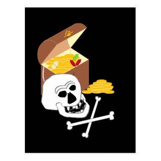 Pirat bröstkorg vykort