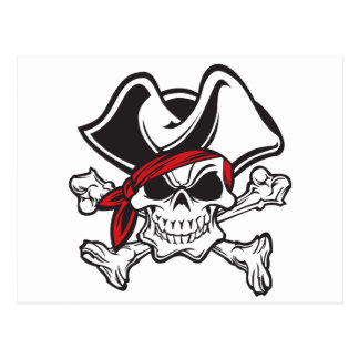 pirat för skullandkorben vykort
